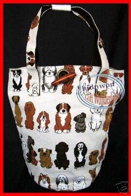 Dog Puppy Satchel Bucket Handbag Tote BAG Weekend causal Purse