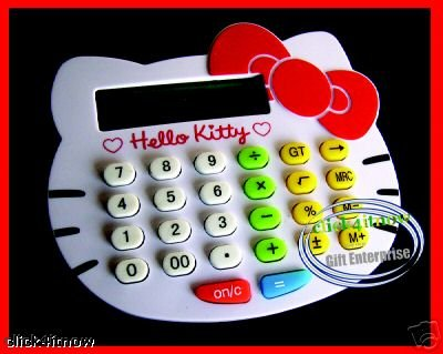 HELLO KITTY Die Cut Pocket Calculator stationery ladies