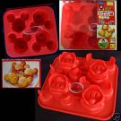 Japan Mickey Mouse SILICONE Cake Muffin Jelly Pudding Mould Red