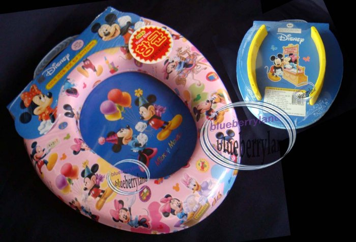 Disney Mickey Mouse Baby Padded Potty Toilet Training Seat PINK