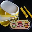 Monchhichi Bebichhichi 2-tier Bento Lunch Box 3 Pcs set case