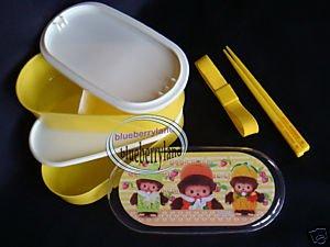 Monchhichi Bebichhichi 2-tier Bento Lunch Box 3 Pcs set case