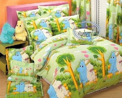 Moominvalley Moomin Bedding Set Double size Duvet Cover Fitted Sheet 4pcs set