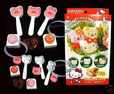Sanrio HELLO KITTY SUSHI Mold Seaweed Vegetable Cutter 6 pc