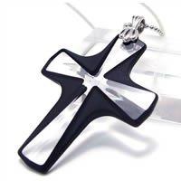 Jet Black Clear Crystal Pendant Necklace with Swarovski Crystal