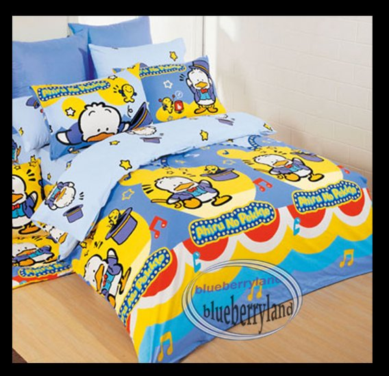 Sanrio Ahiru No Pekkle  Bedding Set Double Size Duvet Cover Fitted Sheet 4pcs Set