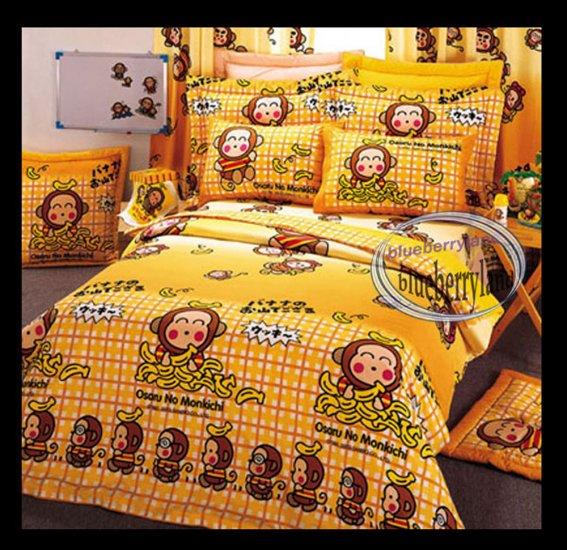 Sanrio Osoru No Monokichi Bedding Set Double Size Duvet Cover Fitted Sheet 4pcs Set