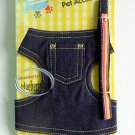 "Japan Puppy Dog Apparel Denim Harness Vest & Lead Leash Set ~ Small 13"" - 16""  (PB)"