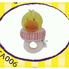 "Japan Plush Squeaky Duckling on Tug 6"" Puppy Pet Dog Toy Toys"