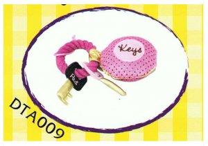 Japan Plush Squeaky Key on Rope Tug 7.5� Puppy Pet Dog Toy