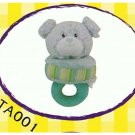 "Japan Plush Squeaky Bear on Tug 6"" Puppy Pet Dog Toy Toys"