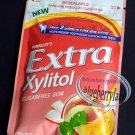 Wrigley`s Extra Zylitol Peach mint flavor Menthol Sugar-free Gum x 2 Packets