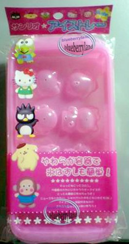 Sanrio Hello Kitty & Friends Ice Cube Rack Tray Mold Mould Maker woman kids ladies