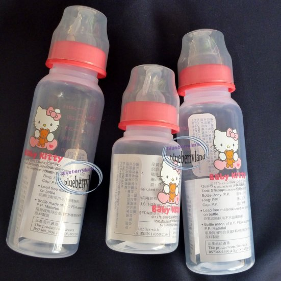 Sanrio HELLO KITTY Baby Girl Feeding Bottles 3 pcs Red set - Gift Set