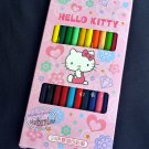 Sanrio HELLO KITTY Coloring pencils School Stationery set ~ 12 Pcs