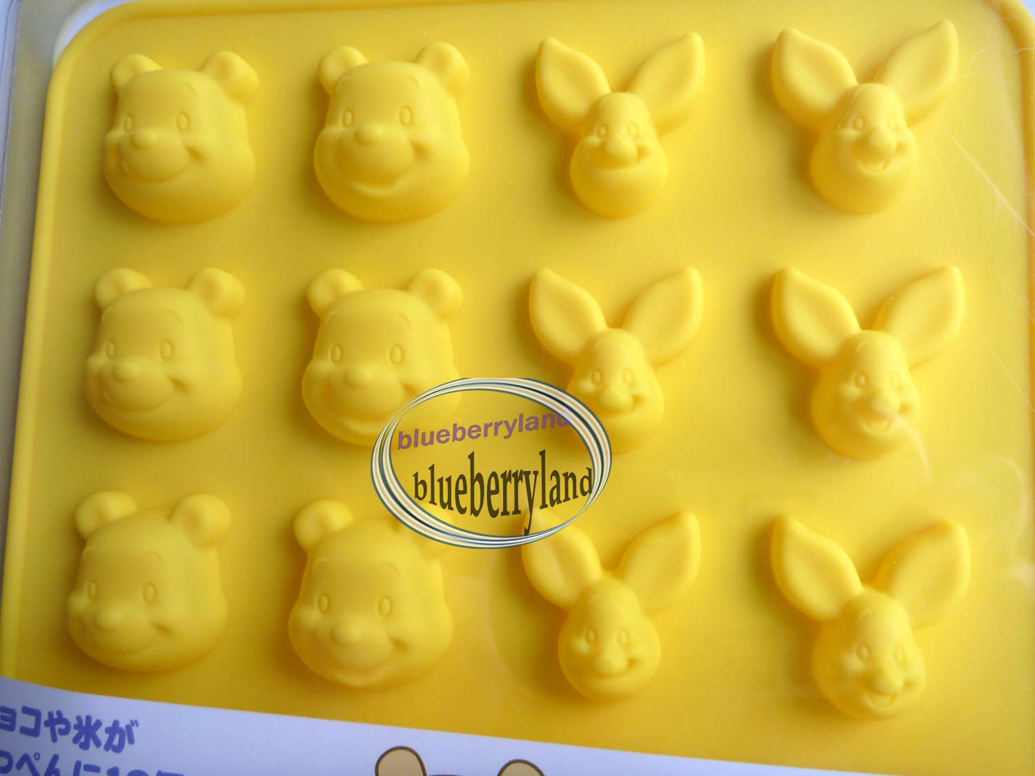 Japan Disney Winnie the Pooh Piglet SILICON mold Chocolate ICE Mould