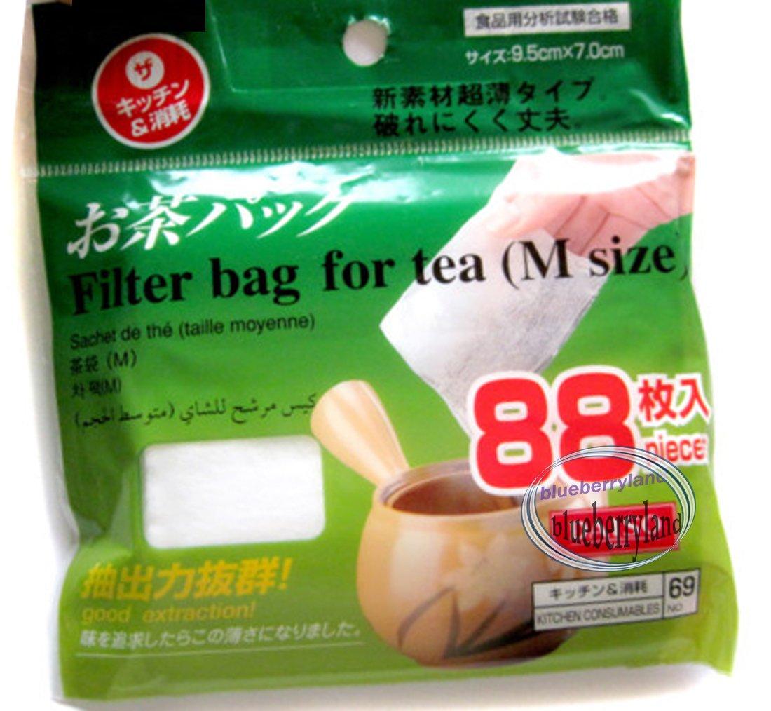 88 pcs Loose Leaf Tea Filter Bag M size 9.5x7cm Japan Imported