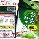 100 pcs Loose Leaf Tea Filter Bag set 9.5 x 7cm ~ Japan Imported