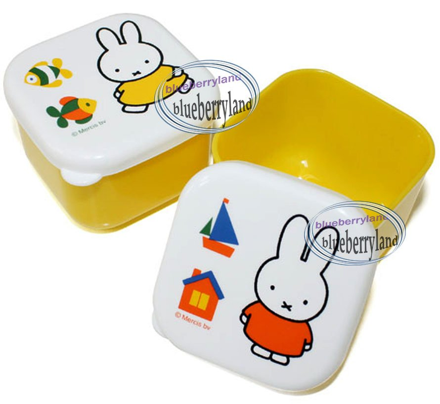 Miffy Food Storage Box lunch snack case bento Melanie