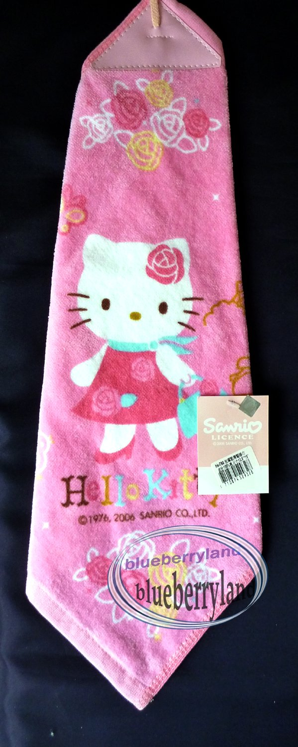 Sanrio HELLO KITTY Loop Hand Towel bathroom kitchen Pink