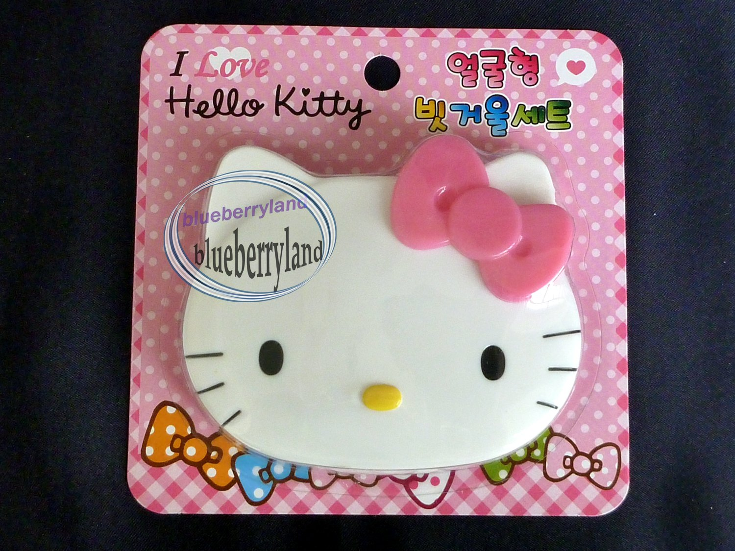 Sanrio HELLO KITTY Pocket Compact Make Up Mirror & comb set