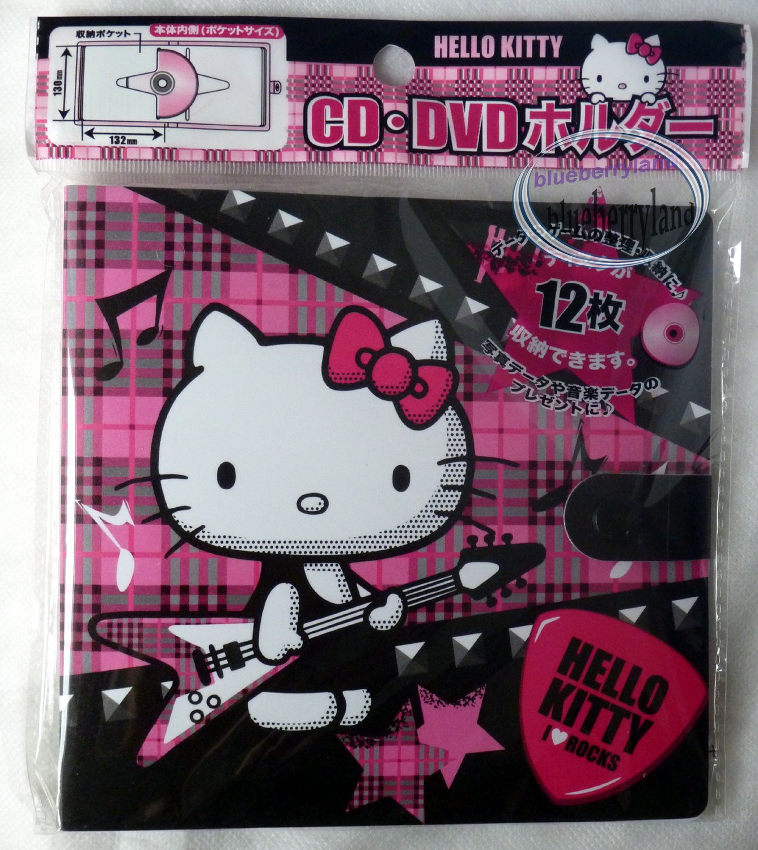 Sanrio HELLO KITTY 12 Pcs CD DVD Holder car home Bag case