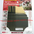 Japan Stainless Steel 5 Sided Cake Decorating Comb Icing side Decorator Scraper Smoother Design
