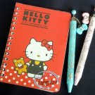 Sanrio Hello Kitty Spiral Notebook Book stationery with Freebies of 2 ball Pens