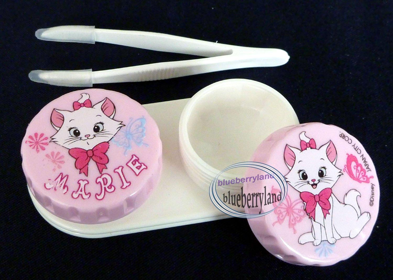 Disney Marie Contact lens holder case set travel kit len