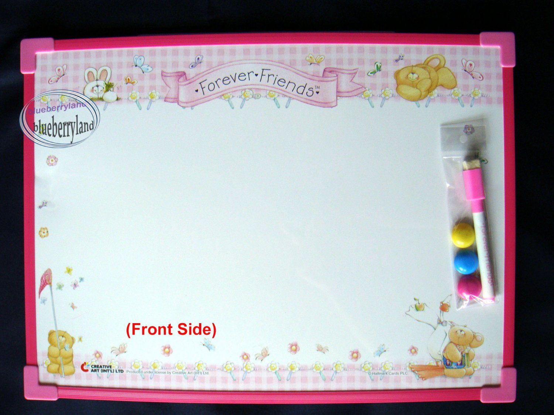 Forever Friends Magnetic Week Planner White Board with Marker & Eraser
