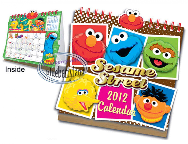 Sesame Street 2012 Desktop Calendar ELMO