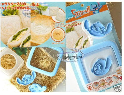JAPAN Disney STITCH Sandwiches Bread Toast MOLD mould Maker Tools