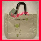Hot Cat Club Shoulder Satchel Tote Back to School Bag Weekend Shopping Purse SM