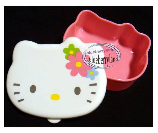 Sanrio Hello Kitty Die-Cut Snack Food Bento Box Container Case BABY snacks kids
