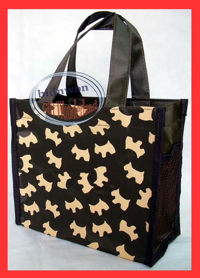 Scottish Dog Back To School Lunch Box Bag Tote BAG Diaper Purse Handbag Brown