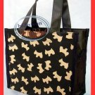 Scottish Dog Back To School Lunch Box Bag Tote BAG Diaper Purse Handbag Brown