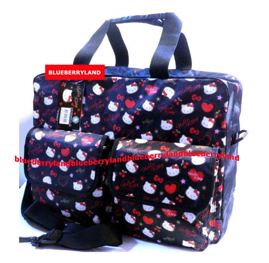 Sanrio HELLO KITTY Satchel Shoulder Bag School Weekend Travel bag purse Handbag