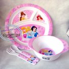 Disney Princesses Baby Feeding Plate Fork Spoon Bowl 4 Pcs Set