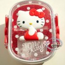 Sanrio 35th Hello Kitty 2 tier BENTO Lunch BOX container case Pink Lid