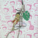 Betty Boop & Green Leaf Cell Mobile Phone Strap charm DC