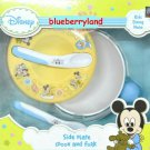 Disney Mickey Mouse Baby Infant Toddler Feeding & Training Spoon Fork Plate Set for 4 months +