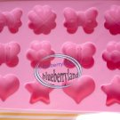 Japan SILICON Sweet Heart Star Flower Butterfly Chocolate Mold Mould