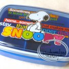 Peanuts SNOOPY Bento Lunch Box Food Container case BLUE