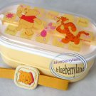 Disney Winnie The Pooh 2-tier Bento Lunchbox Food Containter Chopsticks Belt 3 Pcs Set Red