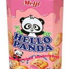 Japan Meiji Hello Panda Strawberry Cream Biscuit Snack Cookie