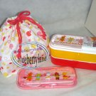 Japan Bento 2-Tier Lunch Box Set Belt fork spoon chopsticks kitchen lunchbox T