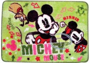 Disney MICKEY MOUSE MAT Bathroom Door Kitchen carpet rug Green