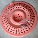 Japan Silicone Bath Hair Catcher Stopper Shower Drain Filter Hair Trap stops PINK