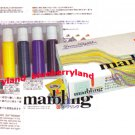 Japanese 6 Colors Marbling Suminagashi Dye Ink Set Buku-undo