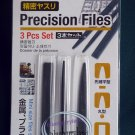 "Japan 5.5"" Long Precision Files 3 Pcs Set home use needle file set repair hobby craft tool"